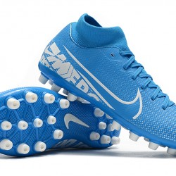 Nike Superfly 7 Academy AG White Navy Blue Football Boots
