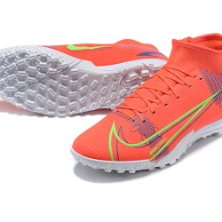 Nike Superfly 8 Academy TF High Mens Orange Blue Yellow White Football Boots