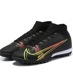 Nike Superfly 8 Academy TF High Mens White Black Red Green Football Boots