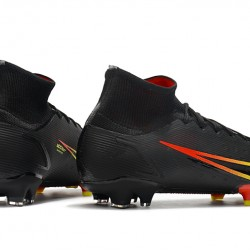 Nike Superfly 8 Elite FG High Mens Womens Black Yellow Red Football Boots