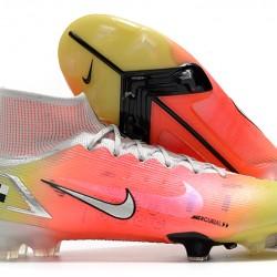 Nike Superfly 8 Elite High FG Mens Womens Orange Silver White Football Boots