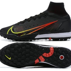Nike Superfly 8 Elite TF High Mens Black White Green Red Football Boots