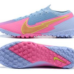 Nike Vapor 13 Elite TF Gold Pink LtBlue Football Boots