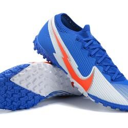 Nike Vapor 13 Elite TF Grey Orange LtBlue Football Boots