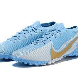 Nike Vapor 13 Elite TF Ltblue Grey Gold Football Boots