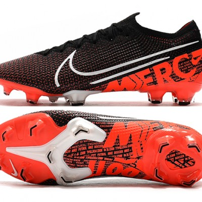 Nike Dream Speed Mercurial Vapor 13 Elite FG Black White Orange Football Boots