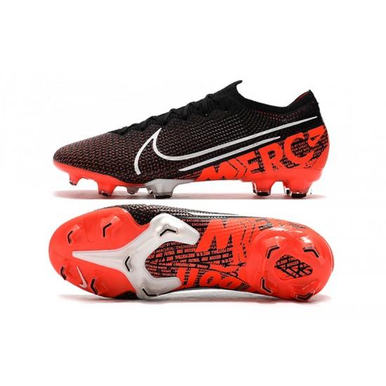 Nike Dream Speed Mercurial Vapor 13 Elite FG Black White Orange Football Boots