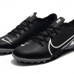 Nike Mercurial Vapor 13 Academy TF Black White Football Boots