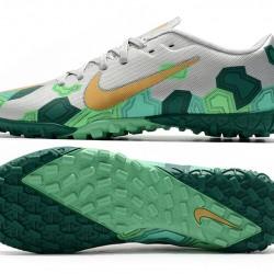 Nike Mercurial Vapor 13 Academy TF Green Silver Gold Football Boots