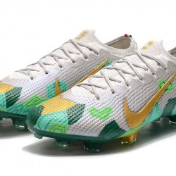 Nike Mercurial Vapor 13 Elite FG Beige Gold Green Football Boots