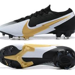 Nike Mercurial Vapor 13 Elite FG Black Silver Gold Football Boots
