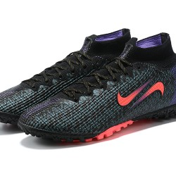 Nike Mercurial Vapor 13 Elite SE TF High Mens Pink Black Blue Football Boots