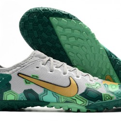 Nike Vapor 13 Pro TF Green Grey Gold Football Boots