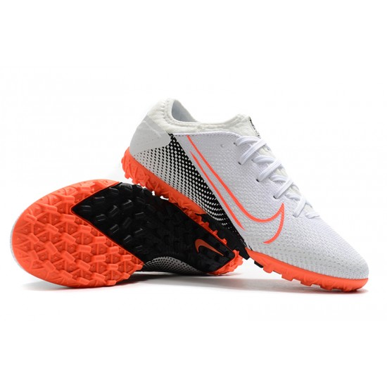 Nike Vapor 13 Pro TF White Black Orange Football Boots