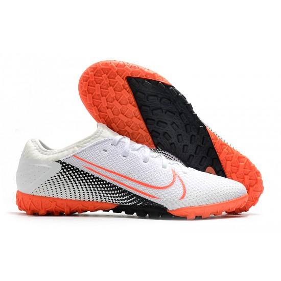 Nike Vapor 13 Pro TF White Black Orange Football Boots