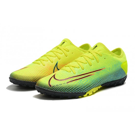 Nike Vapor 13 Pro TF Yellow Green Black Red Football Boots