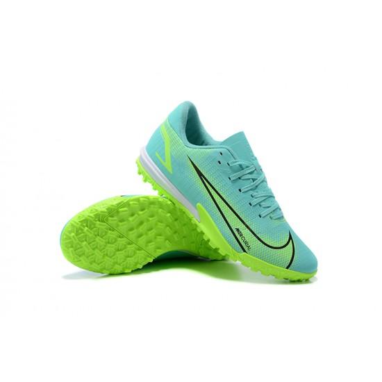 Nike Vapor 14 Academy TF Low Mens Blue Green Whtie Black Football Boots