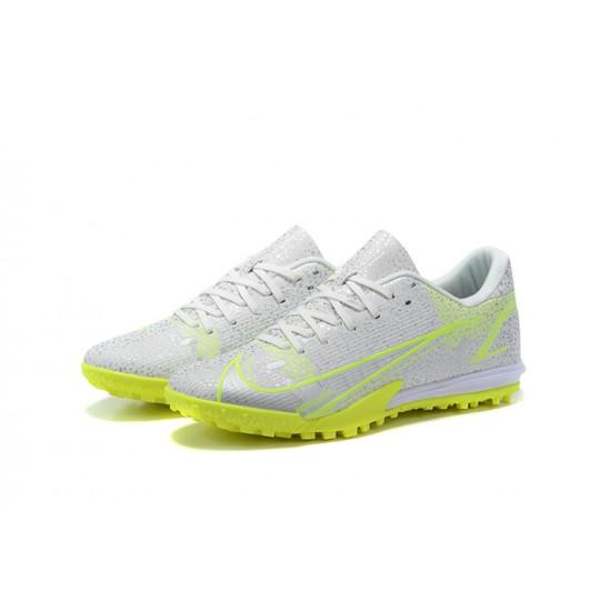 Nike Vapor 14 Academy TF Low Mens Grey Yellow Green Football Boots