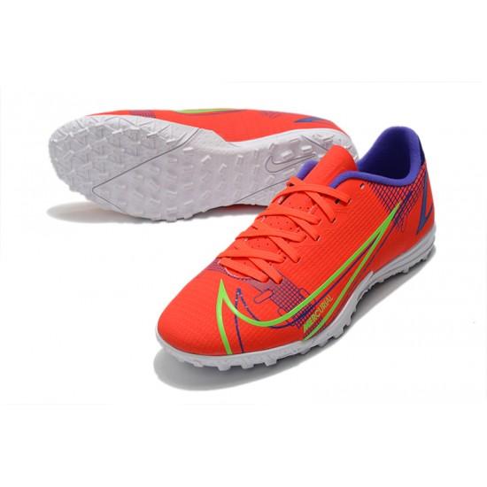 Nike Vapor 14 Academy TF Low Mens Orange Blue Green Football Boots