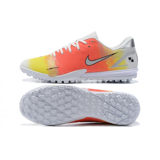 Nike Vapor 14 Academy TF Low Mens Orange Yellow White Silver Football Boots