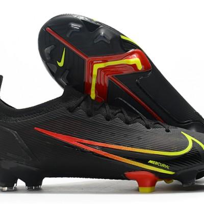 Nike Vapor 14 Elite FG Low Mens Womens Black Yellow Red Football Boots
