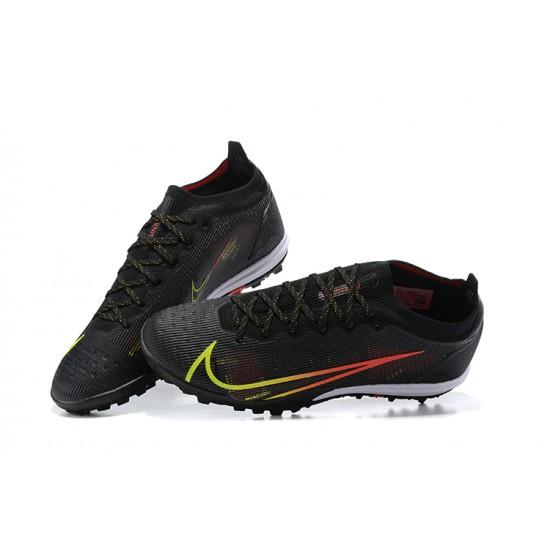 Nike Vapor 14 Elite TF Low Mens Black Green Red White Football Boots