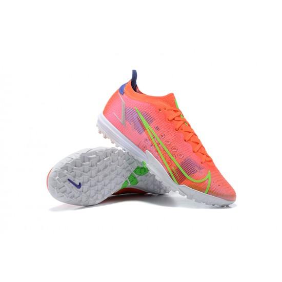 Nike Vapor 14 Elite TF Low Mens Red Green Blue White Football Boots