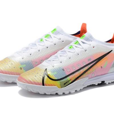 Nike Vapor 14 Elite TF Low Mens White Yellow Black Football Boots