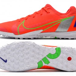 Nike Zoom Vapor 14 Pro TF Low Mens Red Grey Green Football Boots