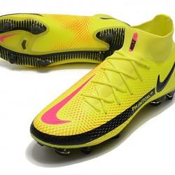 Nike Phantom GT Elite Dynamic Fit FG Black Yellow Peach Football Boots
