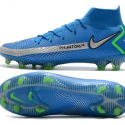 Nike Phantom GT Elite Dynamic Fit FG Navy Blue Silver Green Football Boots
