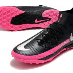 Nike Phantom GT Elite Dynamic Fit TF Black Silver Peach Football Boots