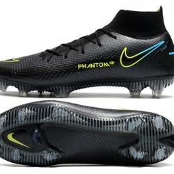 Nike Phantom GT Elite FG High Mens Black Green Blue Football Boots