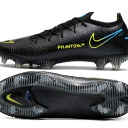 Nike Phantom GT Elite FG Low Mens Black Green Blue Football Boots