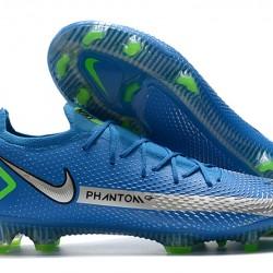 Nike Phantom GT Elite FG Silver Navy Blue Green Football Boots
