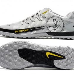Nike Phantom GT TF Low Mens Silver Black Yellow Football Boots