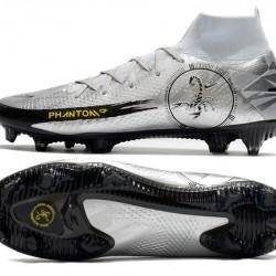 Nike Phantom Scorpion Elite Dynamic Fit FG Low Mens Silver Yellow Black Football Boots