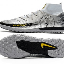 Nike Phantom Scorpion Elite Dynamic Fit TF High Mens Silver Yellow Black Football Boots