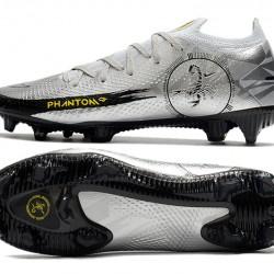 Nike Phantom Scorpion Elite FG Mens Silver Black Football Boots