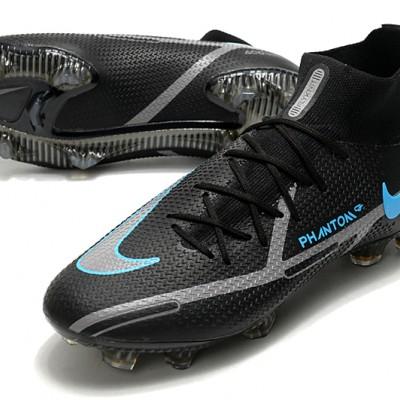 Nike Phantom GT2 Elite DF FG Mid Black Blue Football Boots