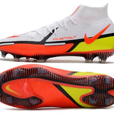 Nike Phantom GT2 Elite DF FG Mid White Orange Black Football Boots