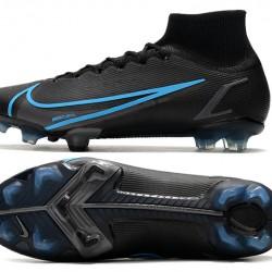 Nike Superfly 8 Elite FG Black Blue Men Football Boots