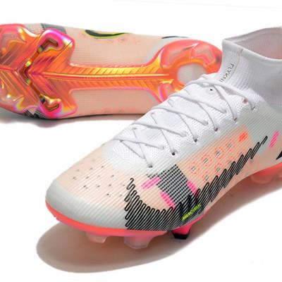 Nike Superfly 8 Elite FG Mid White Black Orange Football Boots